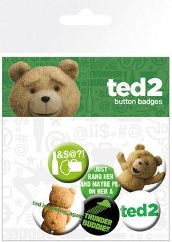 Plakietki zestaw Ted 2 - Mix