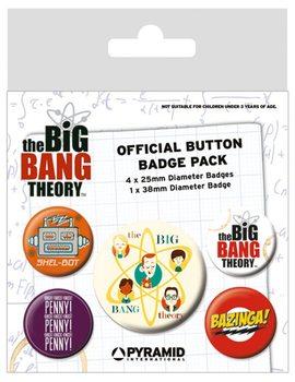 Plakietki zestaw The Big Bang Theory (Teoria wielkiego podrywu) - Characters