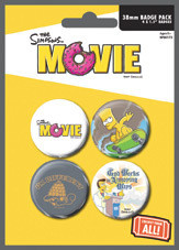 Plakietki zestaw THE SIMPSONS MOVIE - attitude