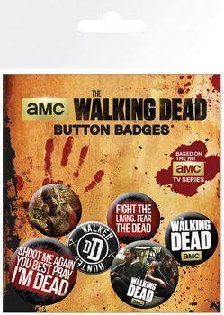 Plakietki zestaw The Walking Dead - Phrases