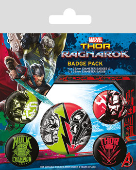 Plakietki zestaw  Thor Ragnarok