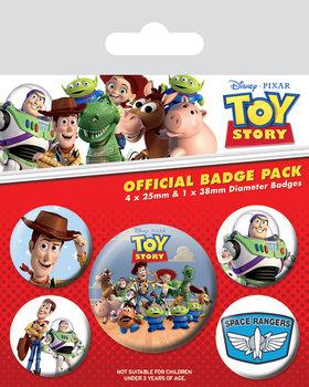 Plakietki zestaw Toy Story - Woody & Buzz