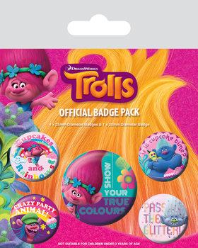 Plakietki zestaw Trolle - True Colours