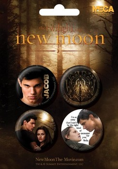 Plakietki zestaw TWILIGHT NEW MOON - jacob
