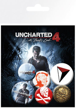Plakietki zestaw Uncharted 4: A Thiefs End - mix