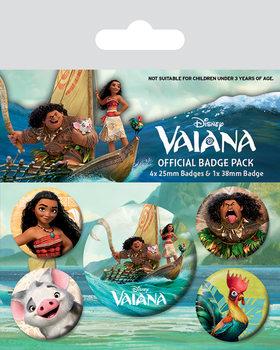 Plakietki zestaw  Vaiana: Skarb oceanu - Characters
