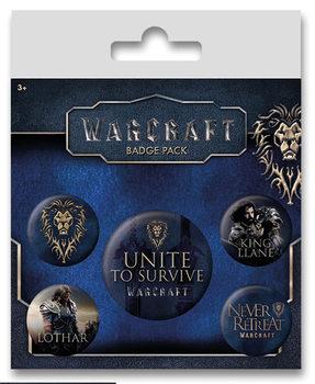 Plakietki zestaw Warcraft: Poczatek - The Alliance