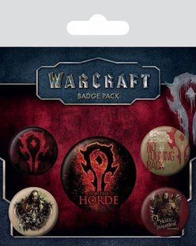 Plakietki zestaw Warcraft: Poczatek - The Horde