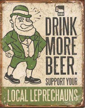Plaque en métal BEER - Drink More