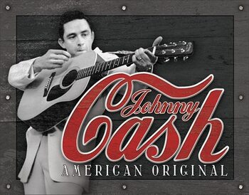 Plaque en métal Cash - American Original