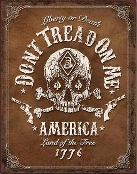 Plaque en métal Don't Tread On Me - Black Jack