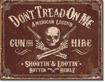 Plaque en métal DTOM - Gun for Hire