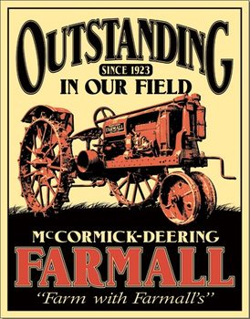 Plaque en métal Farmall - Outstanding