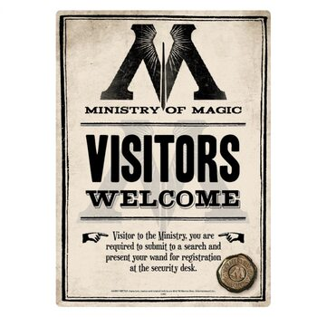 Plaque en métal Harry Potter - Ministry Of Magic