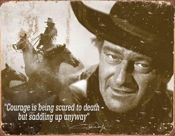 Plaque en métal John Wayne - Courage