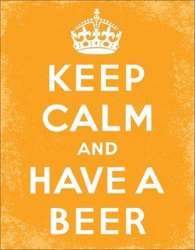 Plaque en métal Keep Calm - Beer