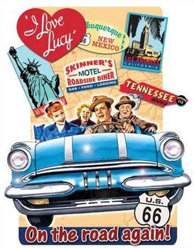 Plaque en métal Lucy - On the Road