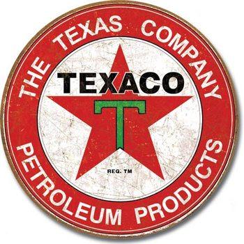 Plaque en métal TEXACO - The Texas Company