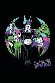 Slika na platnu Batman and his enemies
