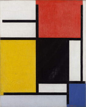 Slika na platnu Composition with red