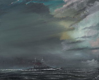 Slika na platnu HMS Hood 1941, 2014,