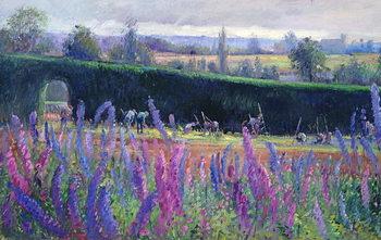 Slika na platnu Hoeing Against the Hedge, 1991