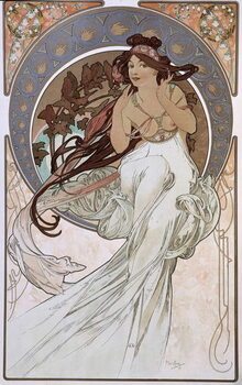 Slika na platnu La Musique - by Mucha, 1898.