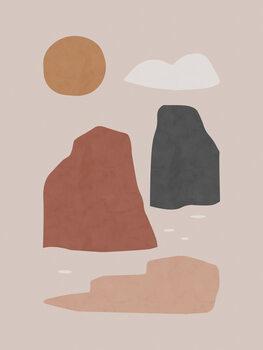 Slika na platnu Ladscape & Sun