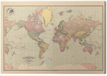 Slika na platnu Stanfords - New Library Chart of the World