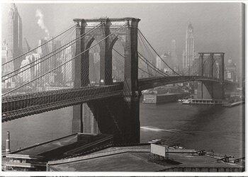 Slika na platnu Time Life - Brooklyn Bridge, New York 1946