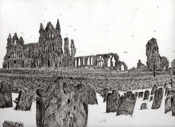 Slika na platnu Whitby Abbey, 2007,