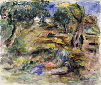 Slika na platnu Woman in Blue, Seated; Femme en Bleu Assise,