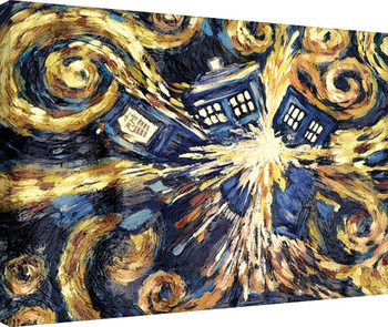 Doctor Who - Exploding Tardis Platno