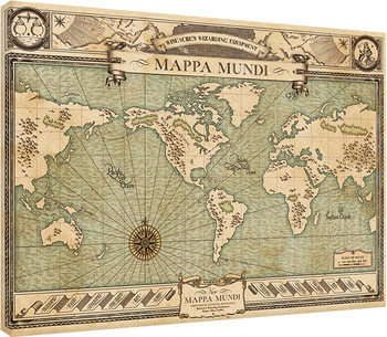 Fantastic Beasts And Where To Find Them - Mappa Mundi Slika na platnu