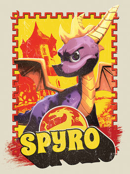Spyro - Vintage Slika na platnu