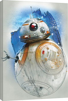 Star Wars The Last Jedi - BB-8 Brushstroke Slika na platnu