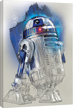 Star Wars The Last Jedi - R2-D2 Brushstroke Slika na platnu