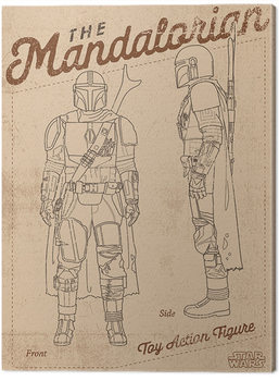 Star Wars: The Mandalorian - Action Figure Slika na platnu