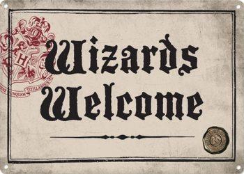Plåtskylt Harry Potter - Wizards Welcome