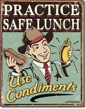 SCHONBERG - safe lunch Plåtskyltar