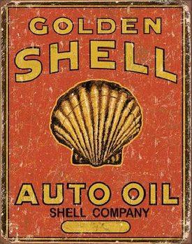 SHELL - Auto Oil Plåtskyltar