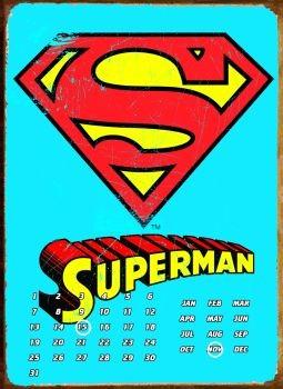 SUPERMAN LOGO Plåtskyltar