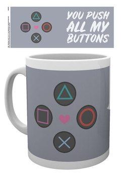 Hrnček Playstation - Push my Buttons