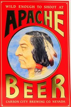 Plechová cedule APACHE BEER