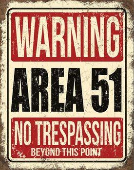 Plechová cedule Area 51
