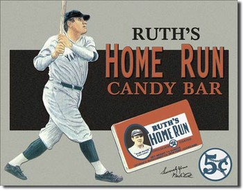 Plechová cedule Babe Ruth – Candy Bar