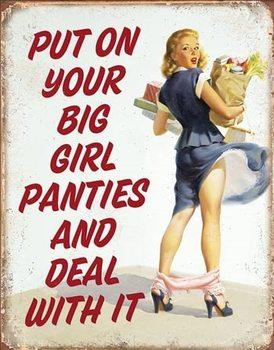 Plechová cedule Big Girl Panties