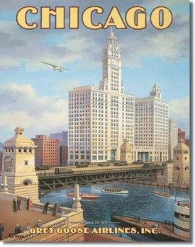 Plechová cedule ERICKSON - chicago