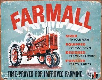 Plechová cedule FARMALL - Model A traktor