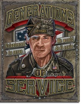 Plechová cedule  Generations of Service